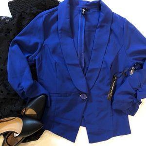 Royal blue lightweight Blazer 3/4 sleeves